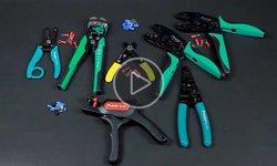 Видеообзор инструментов для зачистки проводов и обжима кабельных наконечников