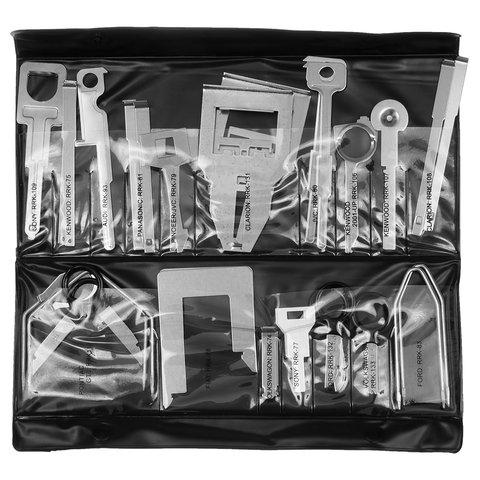 Набор инструментов для снятия штатных и нештатных автомагнитол сталь, 38 предметов