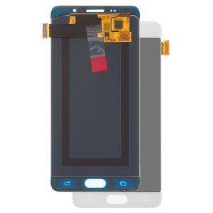 LCD compatible with Samsung A510 Galaxy A5 (2016), (white, with touchscreen, (OLED), High Copy)