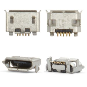Charge Connector compatible with Blackberry 8220, 8520, 8530, 9100, 9520, 9550, 9700, (5 pin, type 5, micro USB type-B)