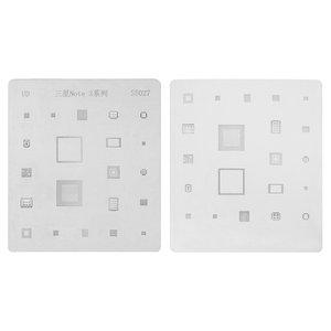 BGA Stencil S5027 Samsung N9000 Note 3, (21 in 1)