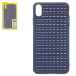 Case Baseus compatible with iPhone XS Max, (dark blue, braided, plastic) #WIAPIPH65-BV03