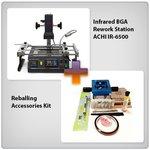 Estación de soldadura infrarroja ACHI IR-6500 + Juego de accesorios para reballing