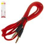 AUX cable Baseus M30, TRS 3.5 mm, 100 cm, rojo, con revestimiento de nylon, #CAM30-B91