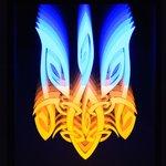 Светодиодный светильник-картина Тризуб фигурный (с эффектом бесконечности, 5 Вт, 330 × 230 × 30 мм)