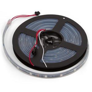 Светодиодная лента, IP67, RGB, SMD 5050, WS2811, с управлением, черная, 12В, 60 д/м, 5 м