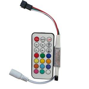 Контролер з ІЧ пультом LED2017-IR (RGB, WS2811, WS2812, WS2813, 5-24 В)