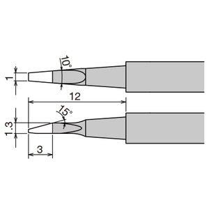 Punta de recambio para pinzas térmicas Goot XST-80HRT-1