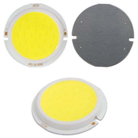 COB LED Chip 7 W cold white, 450 lm, 43 mm, 300 mA, 21 23 V